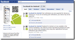 Facebook on your Android phone.
