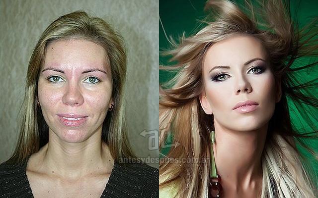 Antes y despues del maquillaje 6