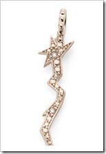 Berloque Raio de ouro rosé 18K com diamantes