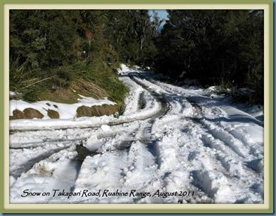 Snow on Takapari Road, 2011