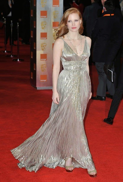 Jessica Chain Bafta 2012