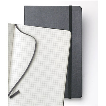 Last but not least - I love Moleskines selection of notebooks, but I always have one of their graph paper books lying around.  I use it to jot notes and draw sketches.  The lines are not distracting when it comes to text and they prove to be useful when I'm drawing the dimensions of furniture for my apartment.  (www.moleskineus.com)