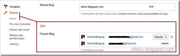 Setelan Dasar Blogspot