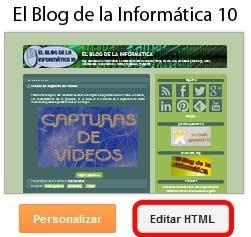 Botón Pinterest en fotos de blogger - editar HTML en Blogger