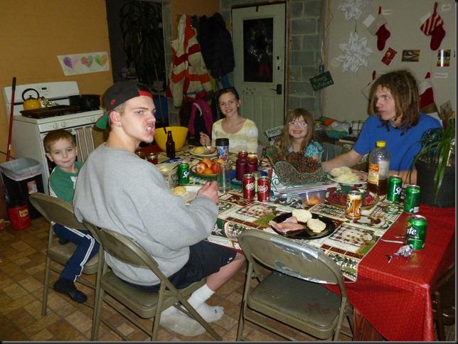 Christmas Eve ham dinner