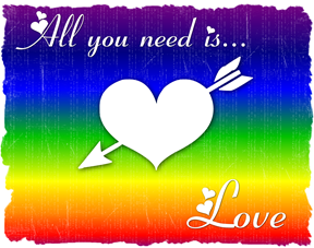 all you need is love red rainbow 2