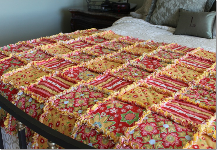 Rag Quilt Yellow and Red 041