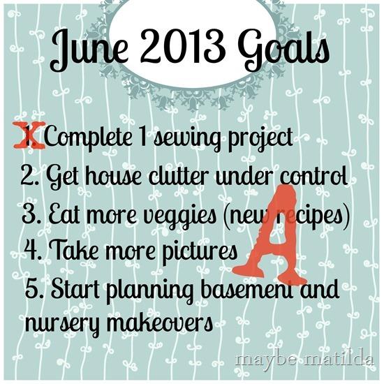 June goals grade