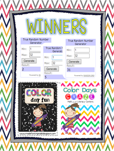 color days craze winners