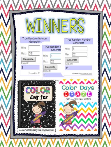 color days craze winners