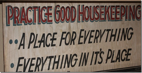 old housekeeping sign