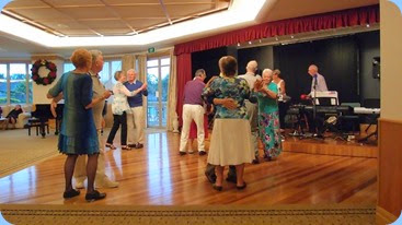Residents and members of the NSOKC enjoying the music on the dance floor. Photo courtesy of Dennis Lyons.