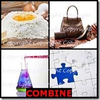 COMBINE- 4 Pics 1 Word Answers 3 Letters