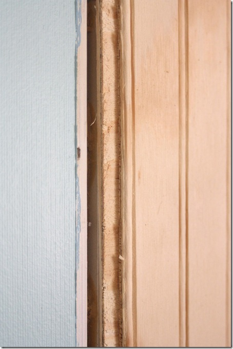 bead board walls in a mobile home