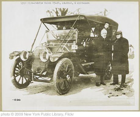 '1910 - Oldsmobile Model 23-24, limited, 6 cylinders.' photo (c) 2009, New York Public Library - license: http://www.flickr.com/commons/usage/