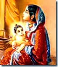 [Lord Chaitanya with mother]