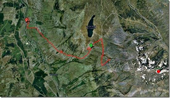 Mapa Ben Nevis