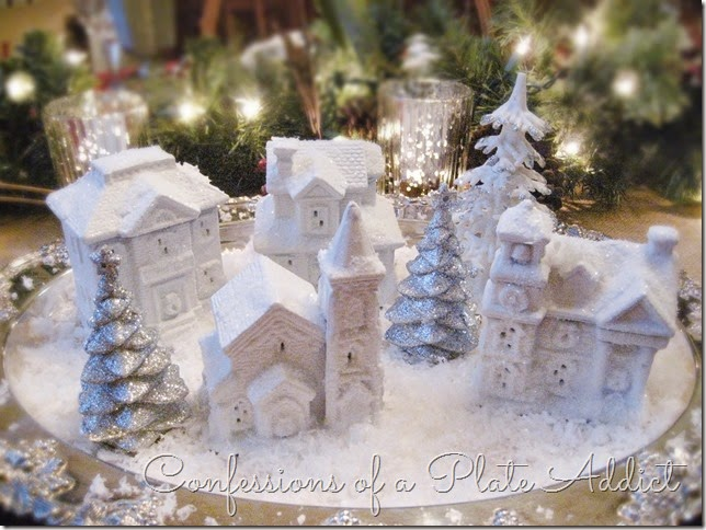 CONFESSIONS OF A PLATE ADDICT DIY Dollar Tree Snow Village 3