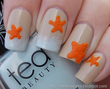 Nail Treasures Textured Starfish Nail Art