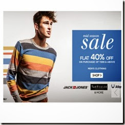 Men's Top Brands Clothing upto 60% off + 40% off on Rs. 999 + 5% off at Snapdeal