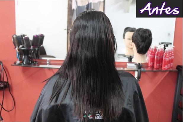 luzes em cabelos pretos