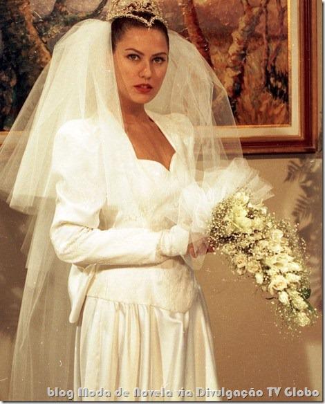 moda da novela renascer - vestido de noiva da eliana