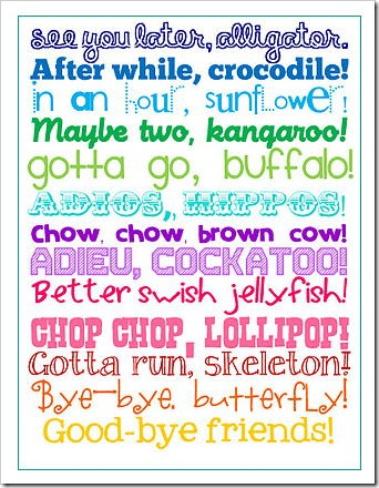 See you later alligator printable poster
