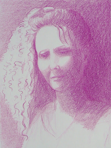 Self Portrait in Lilac Pencil, Jun 10, 2006