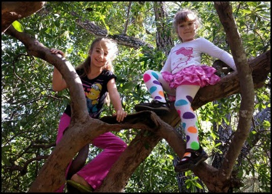 02 - Emily and Samantha in tree