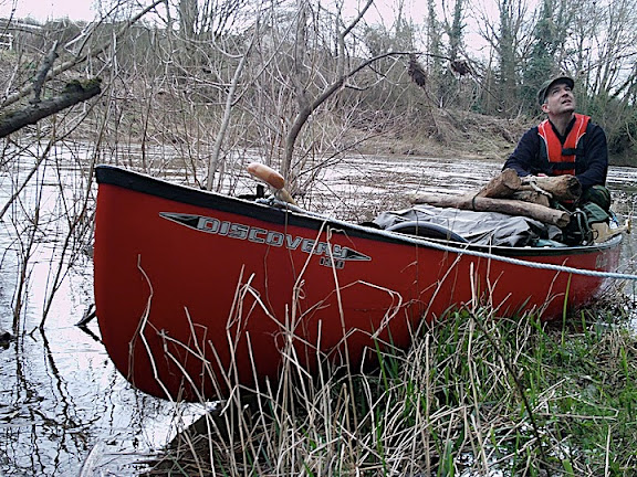 """Old Red"" - our new Old Town Discovery 158 canoe in classic red. This was her maiden voyage. Fantastic craft."