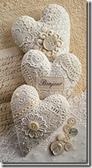 Lace Hearts - Vintage with Laces
