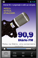 Screenshot of Diário FM 90,9