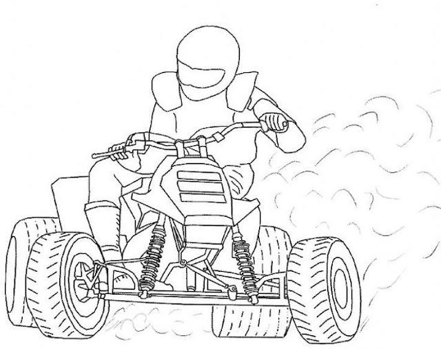 Dibujos de quads para colorear - Dessin tuning ...