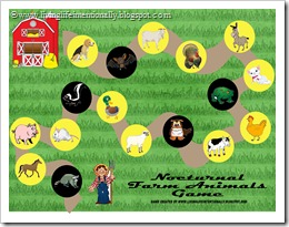 Click to download FREE Nocturnal Farm Animals Game from Living Life Intentionally
