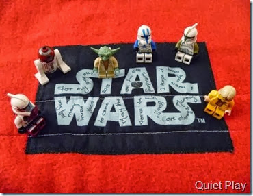 LEGO Star Wars Paper Pieced quilt Label