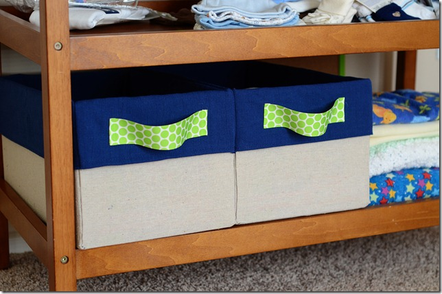Covered diaper boxes