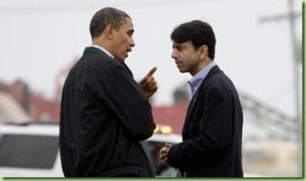 Barack-Obama-Pointing-Finger-at-Indian-Republican-Bobby-Jindal