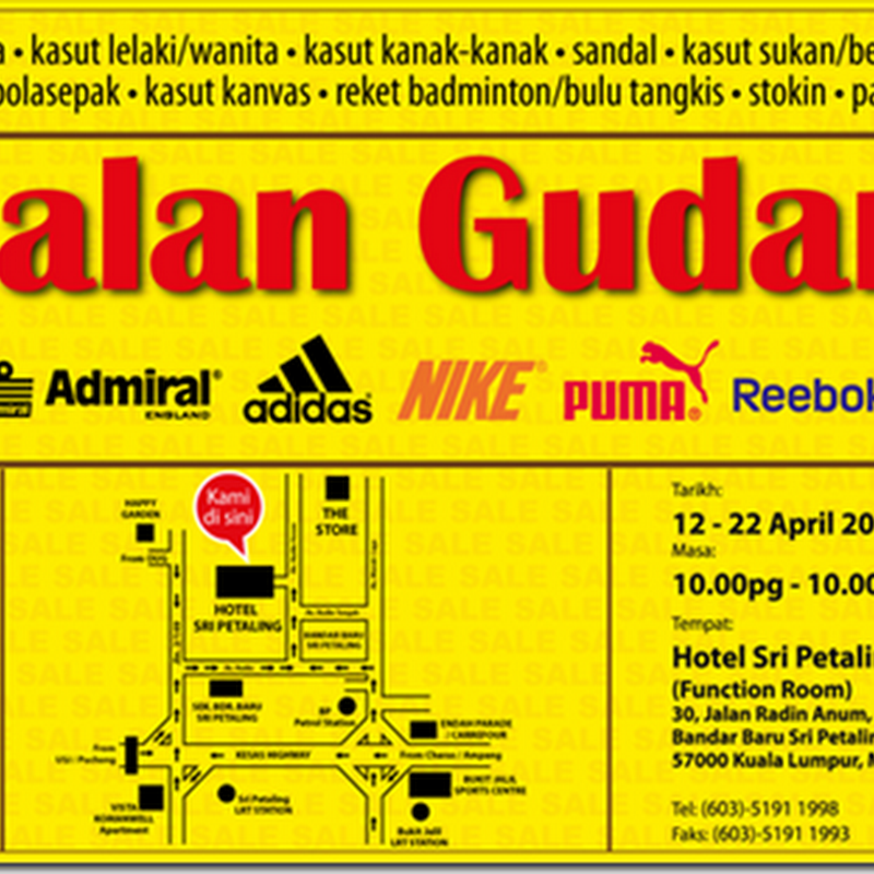 Nike, Reebok, Adidas, Puma, New Balance Warehouse Sale !