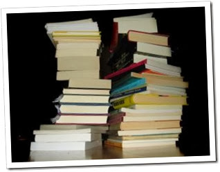 Stack of books-300