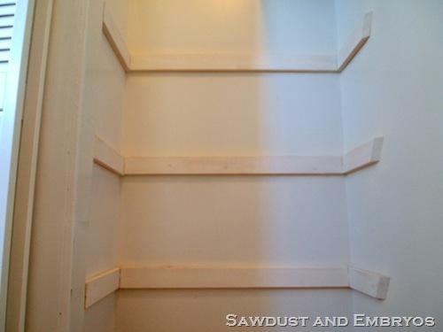 Diy Linen Closet Shelves. Thumbnail