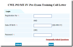 IBPS PO CWE VI Call Letter Download for Training