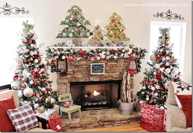 Christmas Mantel by Creative Ambitions