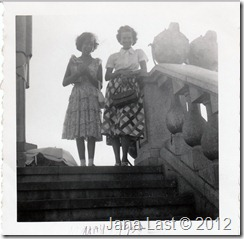 Willis Webster and my mom at Corcovado in Rio de Janeiro Brazil May 24 1952