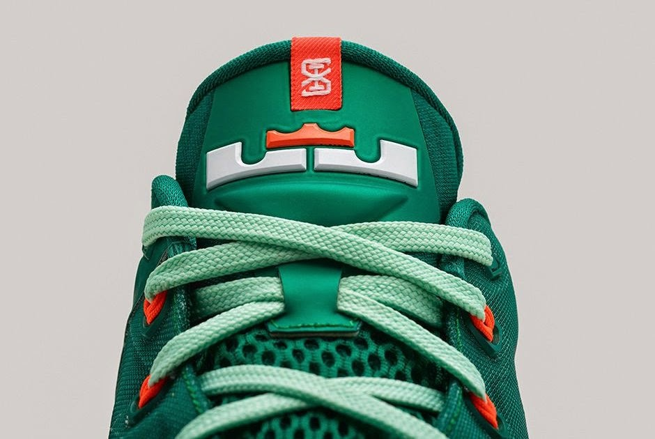 b12235f5c0e7 Nike LeBron 11 Low 8220Biscayne8221 8211 Different Shades of Green ...