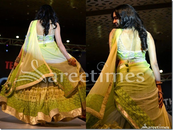 Adah_Sharma_Grey_Lemon_Green_Half_Saree(2)