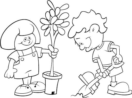 Dibujo de un sembrado - Imagui