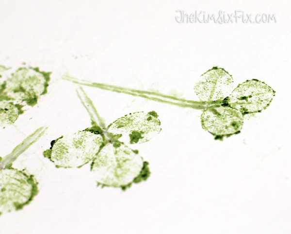 Shamrock leaf prints