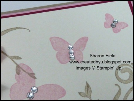 precious butterflies, idea book and catalog, hostess, basic jewels, rhinestones, punches, color challenge, UDI, Sharon Field, Created by You