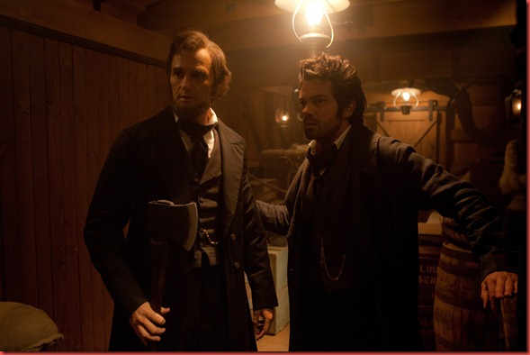 ben walker and dominic cooper in ABRAHAM LINCOLN VAMPIRE HUNTER