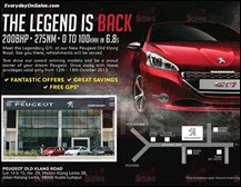 Peugeot Old Klang Road Weekend Test Drive Event 2013 Malaysia Deals Offer Shopping EverydayOnSales